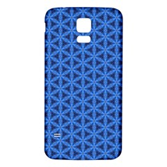 Blue Snake Scales Pattern Samsung Galaxy S5 Back Case (white) by jumpercat