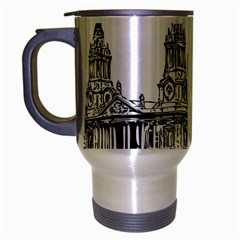 Line Art Architecture Church Travel Mug (silver Gray) by Sapixe