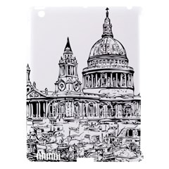 Line Art Architecture Church Apple Ipad 3/4 Hardshell Case (compatible With Smart Cover) by Sapixe