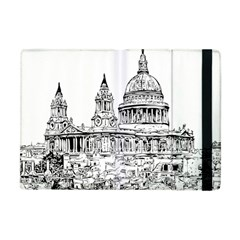 Line Art Architecture Church Apple Ipad Mini Flip Case by Sapixe