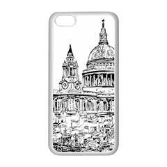 Line Art Architecture Church Apple Iphone 5c Seamless Case (white) by Sapixe