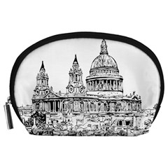 Line Art Architecture Church Accessory Pouches (large)