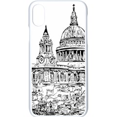 Line Art Architecture Church Apple Iphone X Seamless Case (white)