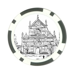 Line Art Architecture Church Italy Poker Chip Card Guard by Sapixe