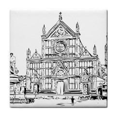 Line Art Architecture Church Italy Face Towel by Sapixe