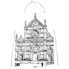 Line Art Architecture Church Italy Full Print Aprons