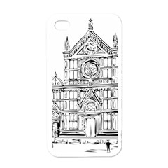 Line Art Architecture Church Italy Apple Iphone 4 Case (white) by Sapixe