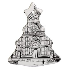 Line Art Architecture Church Italy Christmas Tree Ornament (two Sides) by Sapixe