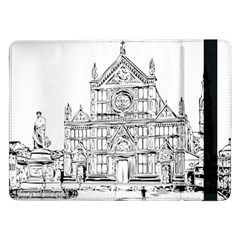 Line Art Architecture Church Italy Samsung Galaxy Tab Pro 12 2  Flip Case by Sapixe