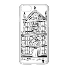 Line Art Architecture Church Italy Apple Iphone 8 Seamless Case (white) by Sapixe