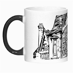 Line Art Architecture Old House Morph Mugs by Sapixe
