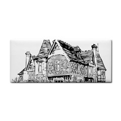 Line Art Architecture Old House Hand Towel by Sapixe