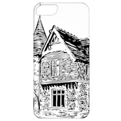 Line Art Architecture Old House Apple Iphone 5 Classic Hardshell Case by Sapixe
