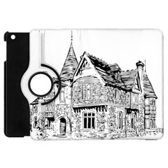 Line Art Architecture Old House Apple Ipad Mini Flip 360 Case by Sapixe