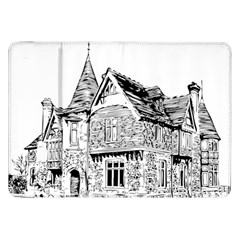 Line Art Architecture Old House Samsung Galaxy Tab 8 9  P7300 Flip Case by Sapixe