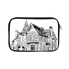 Line Art Architecture Old House Apple Ipad Mini Zipper Cases by Sapixe