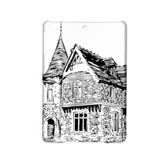 Line Art Architecture Old House Ipad Mini 2 Hardshell Cases by Sapixe