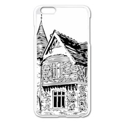 Line Art Architecture Old House Apple Iphone 6 Plus/6s Plus Enamel White Case by Sapixe