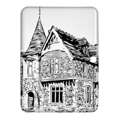 Line Art Architecture Old House Samsung Galaxy Tab 4 (10 1 ) Hardshell Case