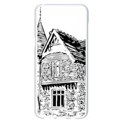 Line Art Architecture Old House Samsung Galaxy S8 Plus White Seamless Case
