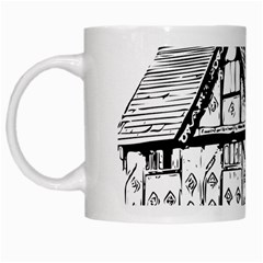 Line Art Architecture Vintage Old White Mugs