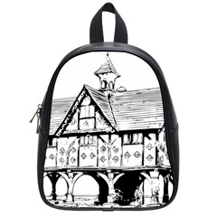 Line Art Architecture Vintage Old School Bag (small) by Sapixe