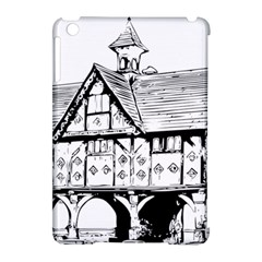 Line Art Architecture Vintage Old Apple Ipad Mini Hardshell Case (compatible With Smart Cover) by Sapixe