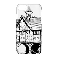 Line Art Architecture Vintage Old Apple Iphone 8 Hardshell Case