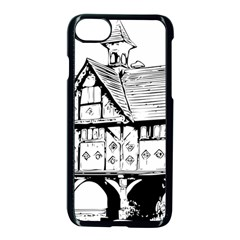 Line Art Architecture Vintage Old Apple Iphone 8 Seamless Case (black) by Sapixe