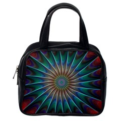 Fractal Peacock Rendering Classic Handbags (one Side) by Sapixe