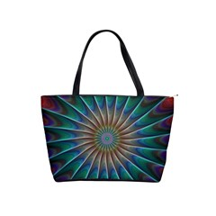 Fractal Peacock Rendering Shoulder Handbags by Sapixe
