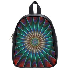 Fractal Peacock Rendering School Bag (small) by Sapixe