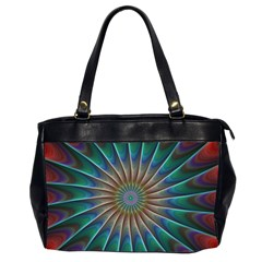 Fractal Peacock Rendering Office Handbags (2 Sides)  by Sapixe