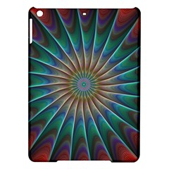 Fractal Peacock Rendering Ipad Air Hardshell Cases by Sapixe
