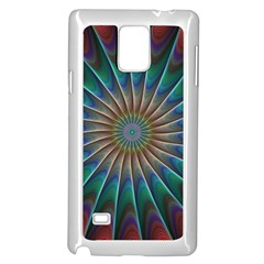 Fractal Peacock Rendering Samsung Galaxy Note 4 Case (white)