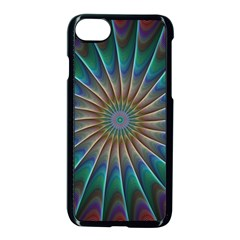 Fractal Peacock Rendering Apple Iphone 7 Seamless Case (black) by Sapixe