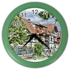 Homes Building Color Wall Clocks