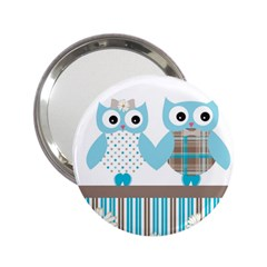 Owl Animal Daisy Flower Stripes 2 25  Handbag Mirrors by Sapixe