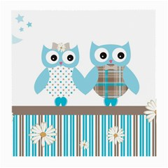 Owl Animal Daisy Flower Stripes Medium Glasses Cloth by Sapixe