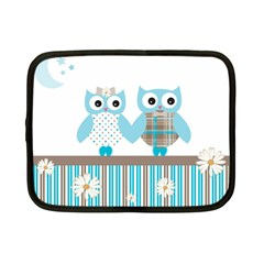 Owl Animal Daisy Flower Stripes Netbook Case (small)  by Sapixe
