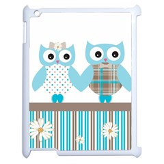 Owl Animal Daisy Flower Stripes Apple Ipad 2 Case (white) by Sapixe