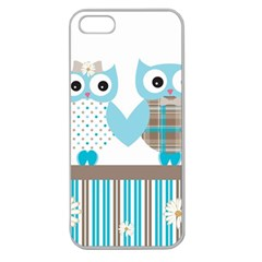 Owl Animal Daisy Flower Stripes Apple Seamless Iphone 5 Case (clear) by Sapixe