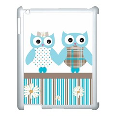 Owl Animal Daisy Flower Stripes Apple Ipad 3/4 Case (white) by Sapixe