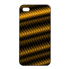 Ornament Stucco Close Pattern Art Apple Iphone 4/4s Seamless Case (black)