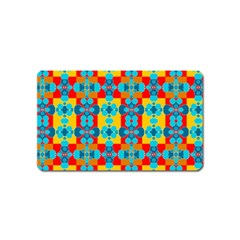 Pop Art Abstract Design Pattern Magnet (name Card) by Sapixe