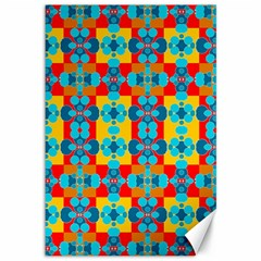 Pop Art Abstract Design Pattern Canvas 12  X 18   by Sapixe