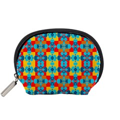 Pop Art Abstract Design Pattern Accessory Pouches (small)  by Sapixe