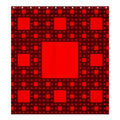 Sierpinski Carpet Plane Fractal Shower Curtain 66  X 72  (large)