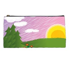 Pine Trees Trees Sunrise Sunset Pencil Cases by Sapixe