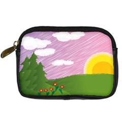 Pine Trees Trees Sunrise Sunset Digital Camera Cases by Sapixe